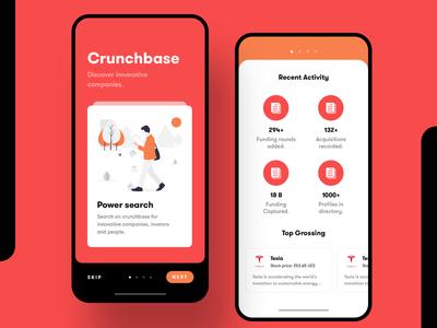 Crunchbase Redesign - Mobile Application UI