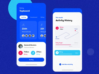 Fitness & Sports Activity - Mobile Application UI