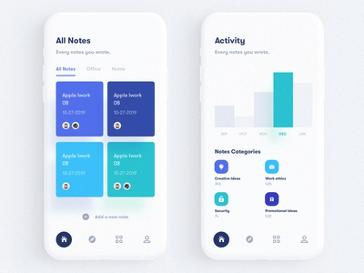 Notes Publishing Mobile App UI