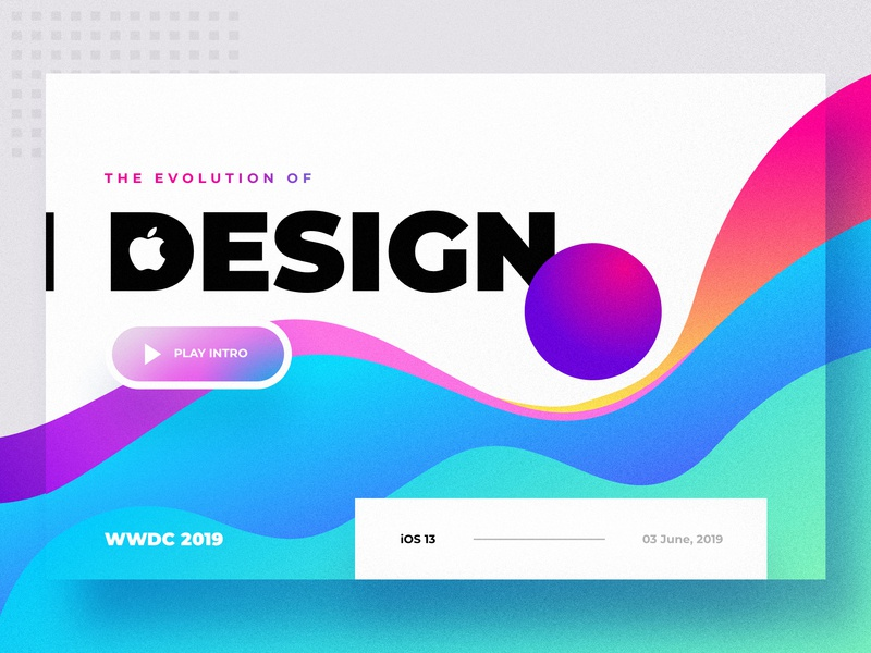 Apple WWDC Intro Design - Web 2019 trend design fluid app logo landing page overlay colorful unique shadow gradient image grid typography dark creative website ux ui freedom inspiration motivation transparent virtual reality next generation abstract apple google material ios macintosh 2019 minimal design