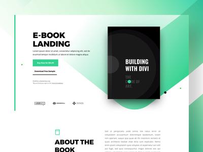 Ebook Shop Landing | Divi Layout