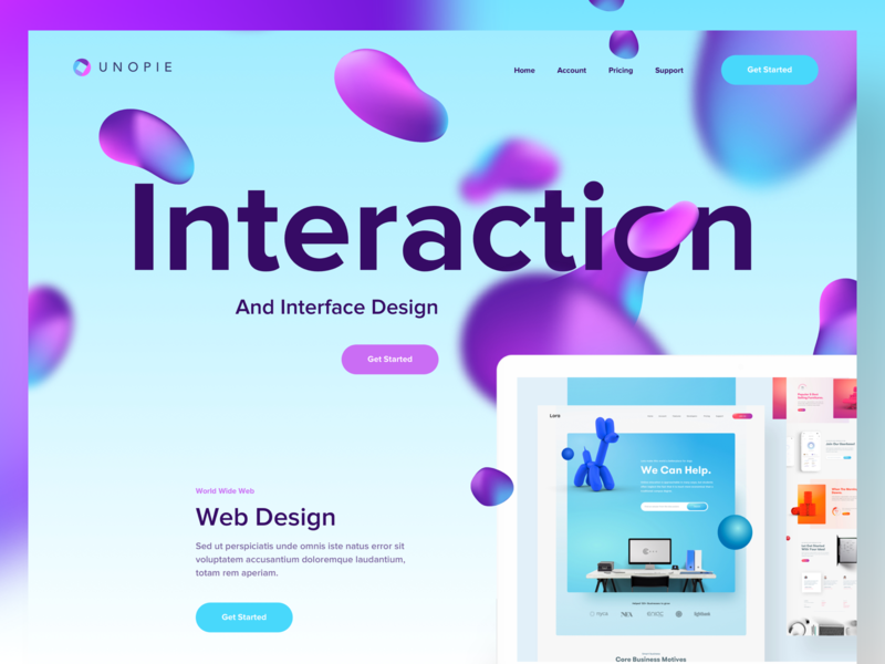 Interaction Design Studio - Landing Page branding mobile product landing page illustration clean dashboard interactive interaction design creative minimal colorful gradient agency web landing page ux ui website product