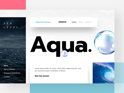 Aqua | Header & Illustration
