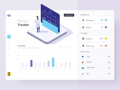 Dashboard UI   Concept application design portal online software web application posts app ux ui statistics material abstract gradient chart analytics dashboard graph colorful