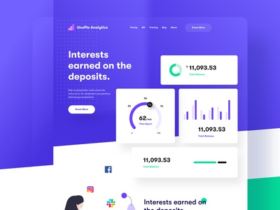 Banking and finance - Landing Page