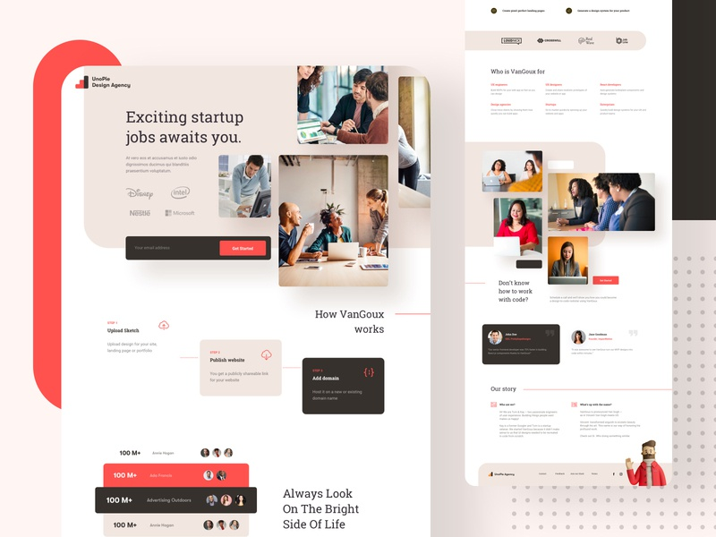 Startups job finding - MVP landing page search remote relocation job finding result 2020 2021 2022 design agency product experience creative minimal website ux ui simple company startup