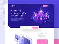 Startups job finding - MVP landing page
