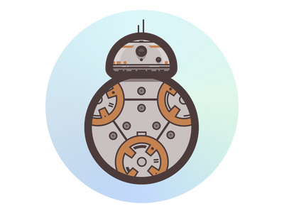 BB8 stickermule illustration