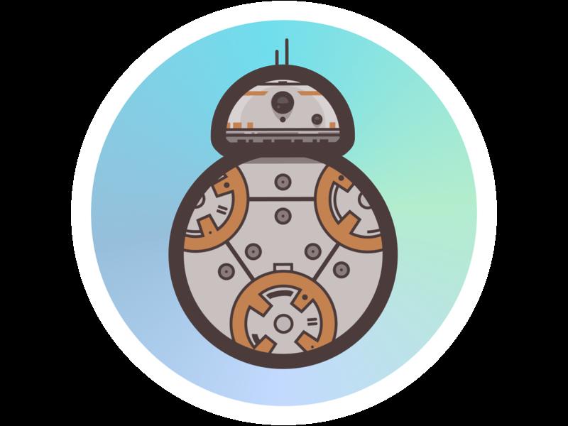 BB8 stickermule illustration