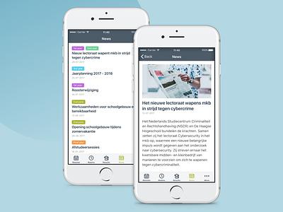 News section ios news mobile app interface ui