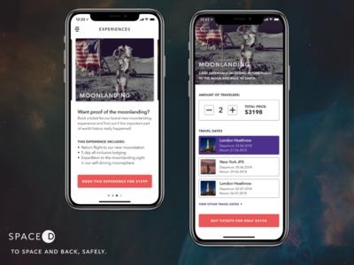 SPACED app design spacedchallenge ui ux interface app ios app design user experience iphone x