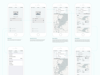 Concept wireflow interaction design ux wireflow ios app flow wireframes