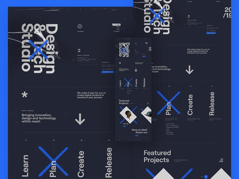Futurehaus - Agency dark ui web design typography minimal clean