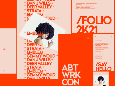Design Embraced - Mobile Folio 2K21 mobile web design typography minimal clean