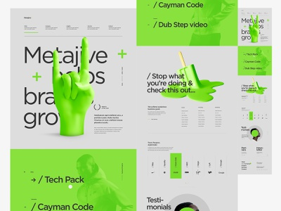 Metajive - Concept from 2019 website branding minimal typography clean