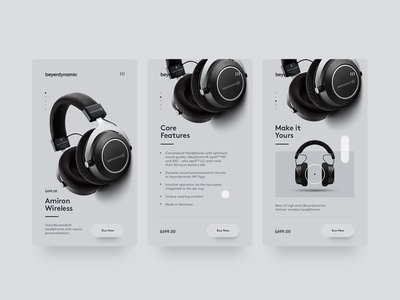 Beyerdynamic Mobile site typography clean minimal mobile site