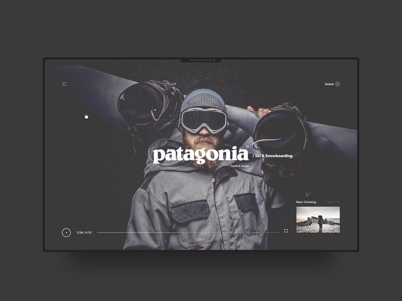 Patagonia web design fashion minimal typography clean
