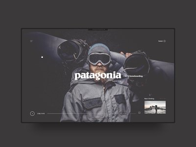 Patagonia web design fashion minimal typography clean