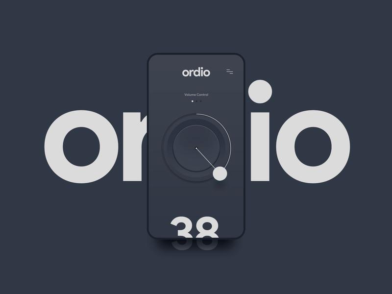 ordio App - Concept mobile app mobile ui clean ui typography minimal