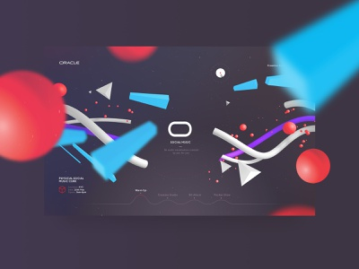 Oracle 3D music visualizer from 2016 (More screens attached) visualizer music website design 3d web design typography minimal clean
