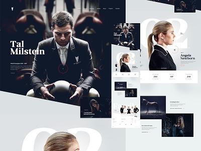 Tal Milstein Stables website from 2016 black and white fashion typogaphy clean web design minimal