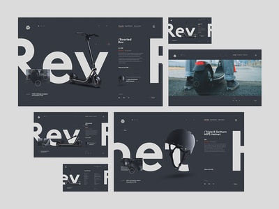 More....Boosted Rev Scooter product page screens ui product web design typography minimal clean