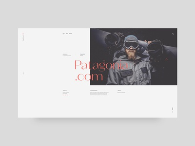 Portfolio project landing screen ui web design typography minimal clean