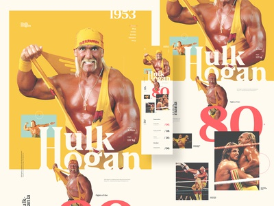 Hulk Hogan website concept