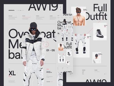 DEMOBAZA typeface fashion ui web design typography minimal clean