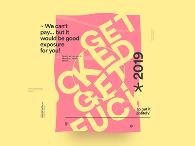 Get Fucked! poster typography minimal clean