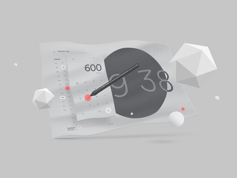 OS UI exploration photoshop illustrator ui typography minimal clean