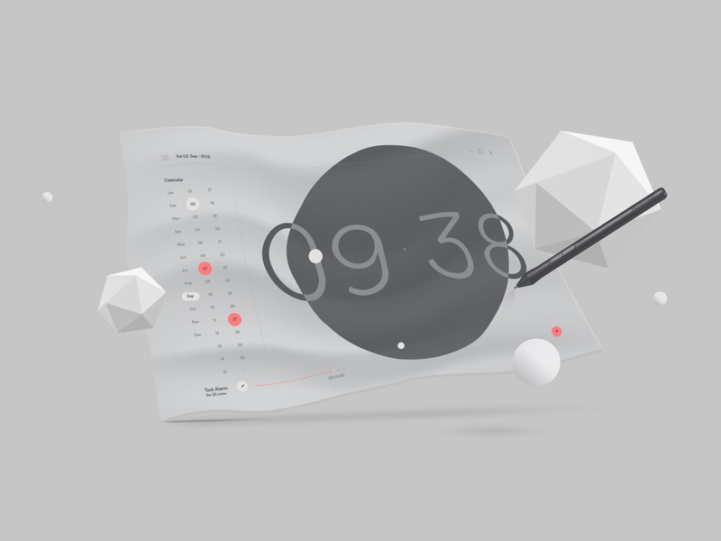 OS UI exploration os photoshop illustrator ui typography minimal clean