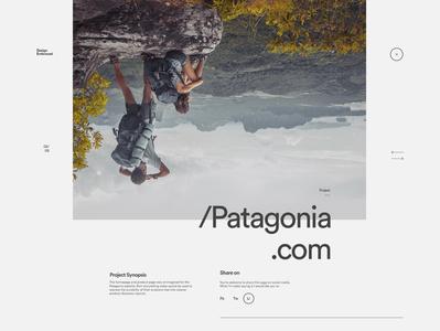 Portfolio - Project page header setup typography minimal clean