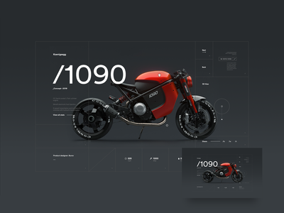 Koenigsegg 1090 site concept dark ui web design typography minimal clean