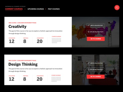Online Courses Dashboard