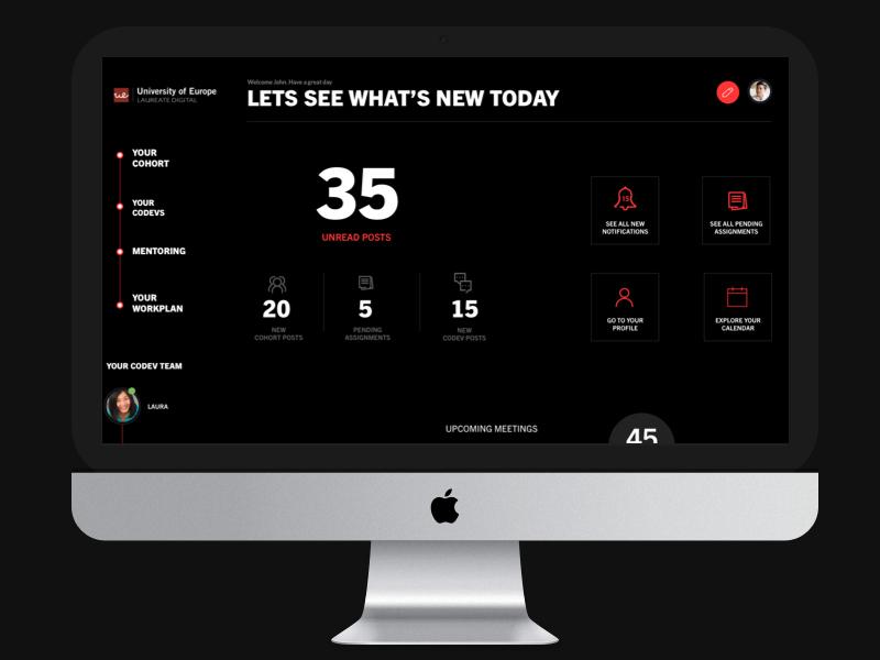E-learning Platform | Student Dashboard dashboard mba elearning lms education