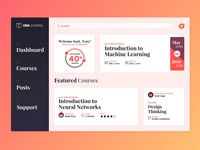 Freebie: E-Learning Courses Dashboard [Sketch]