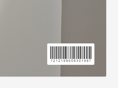 Barcode barcode white black numbers light gray