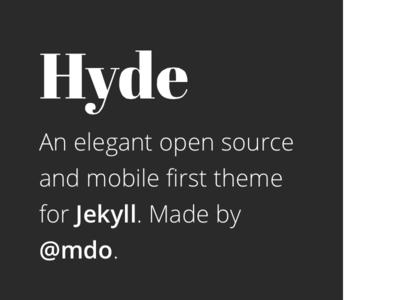 Hyde gray white jekyll hyde theme open sans abril fatface