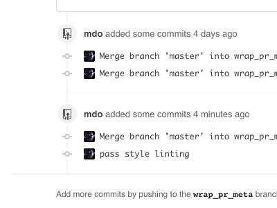 GitHub timeline tweak github white helvetica gray code commits git