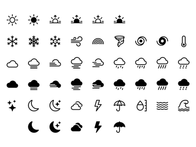 Weather icons bootstrap icons icons