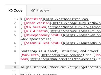 Updated GitHub web editor github code gray white ace html css