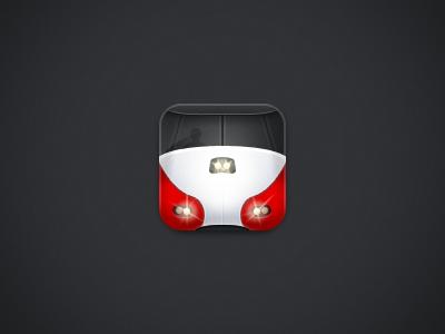 Caltrain - Final Rebound train icon app icon iphone app icon caltrain red black yellow gray noise gradient rebound