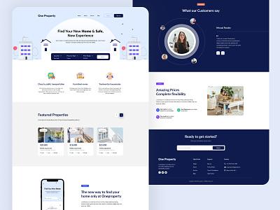 Real Estate UI realestate website typography minimal ux ui design