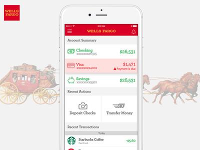 Wells Fargo Mobile Re-Design