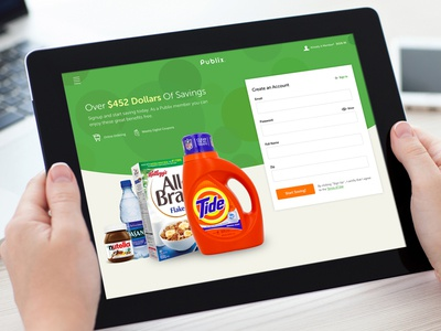 Grocery Savings Sign Up Form