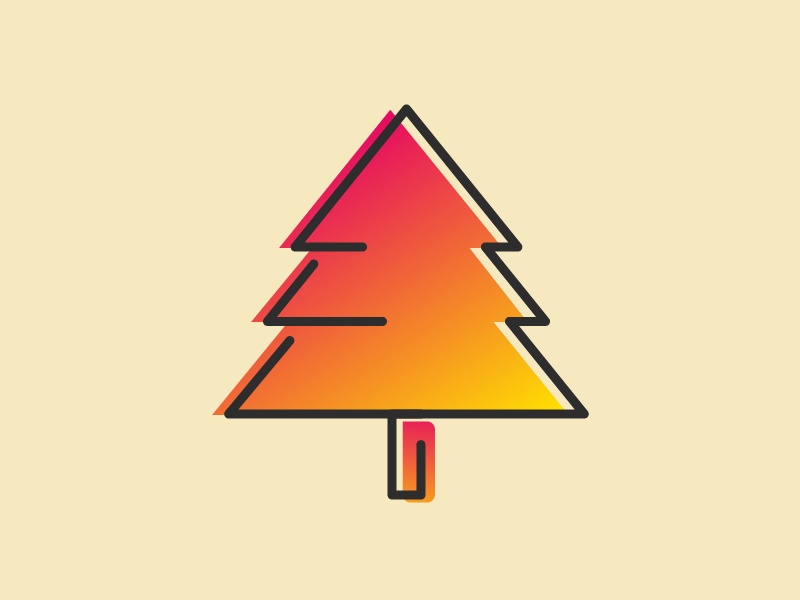 Tree Icon - Learning Icon Design illustrator icon tree