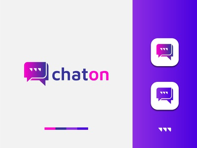 Modern Chat Logo Design (unused) colorful logo branding modern typing tech logo talking logo social media social logo simple logo service professional logo message chatting logo bubble best logo