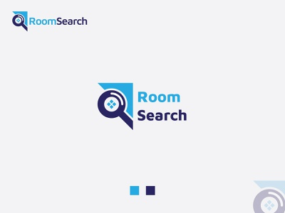 Room Search-Find Room Logo (Ready For Sale) find room search gradient illustration typography logotype symbol icon mark vector geometric colorful creative logo design logo branding identity app icon design ui ux alphabet monogram