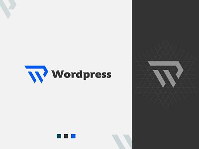 WP Letter Logo-Wordpress Logo (unused) wordpress logo wp letter logo gradient illustration typography logotype 3d symbol icon mark geometric creative lettermark lettering typeface logo design logo branding identity app icon design